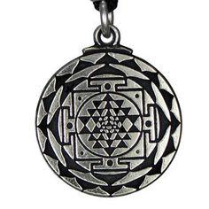 Sri-Yantra-gran-riqueza-Diosa-Hindu-Colgante-Amuleto-Talisman-joyeria-Yoga