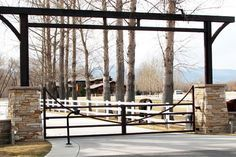 ranch gate Automatic Gate Systems, Gate Operators, Camp David, Driveway Gate, Entrance Gates, Bouldering, Ranch, Colorado, Photo Galleries