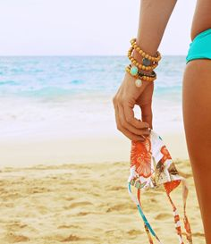 Going to the Maldives is on my bucket list. Thanks to these Jemma Sands Maldives bracelets, my wrist beat me there. Cheater.  Bracelets by Jemma Sands (do yourself a favor, and check out her line) // Bikini top by San Lorenzo (more on that one later)
