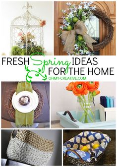 Fresh Spring Ideas For The Home - Here, will find little details that will transform your home into the beauty of Spring.