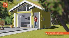"""Här visar vi """"25 kvadrat Frihet"""". Ett vackert attefallshus med en annorlunda arkitektur. Huset har det mesta för att skapa ett behagligt boende. Ytterligare information: www.attefalls.se #attefallshus"""