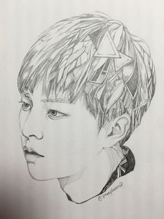 Anime Sketch Exo Anime Exo Fan Art Kpop Fanart Addiction Drawings Cover Pages Drawing S Sketches