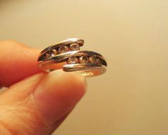 Sterling silver cz ladies ring.  Vintage.  Small.  Promise ring.  925 by pnpvintagegeneral on Etsy