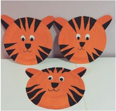 paper plate tiger craft | Crafts and Worksheets for PreschoolToddler and Kindergarten  sc 1 st  Pinterest & Paper Plate Tiger - Kid Craft | Pinterest | Tigers Craft and Zoos