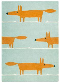 De vos blijft een inspiratiebron voor groot en klein, zoals dit prachtige wollen Scion vloerkleed met vosjes. Door het bijzondere ontwerp in waterig blauw met oranje vosjes, geeft vloerkleed Mr. Fox persoonlijkheid aan iedere ruimte. Het zorgt voor een warme en vriendelijke sfeer in zowel woonkamers als tiener- en kinderkamers. Mr. Fox geeft het interieur een gezonde dosis kleur en karakter met zijn montere houding en de levendige, tweekleurige mix. Handgemaakt van 100% Nieuw-Zeelandse ...