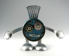Les 475 - Found Object Robot Assemblage Sculpture by Brian… | Flickr
