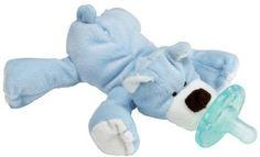WubbaNub Infant Plush Toy Pacifier - Blue Bear