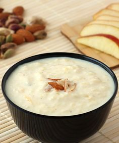 Apple Kheer Recipe with Condensed Milk - Indian Style Milk based Apple Dessert