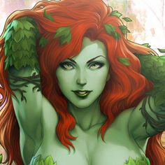 DC Comics Gotham Sirens: Poison Ivy Premium Art Print by Sid Dc Poison Ivy, Poison Ivy Dc Comics, Star Wars Collection, Movie Collection, Sideshow Collectibles, Girl Cartoon, Sirens, Gotham, Pop Culture