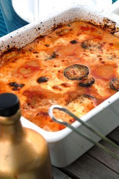 #frabloggerne - lagre de siste oppskriftene fra de beste norske matbloggerne i din kokebok: lisevonkrogh - Lavkarbo-lasagne eller (fuske)moussaka Moussaka, Cheeseburger Chowder, Macaroni And Cheese, Soup, Meat, Ethnic Recipes, Dinners, Lasagna, Dinner Parties