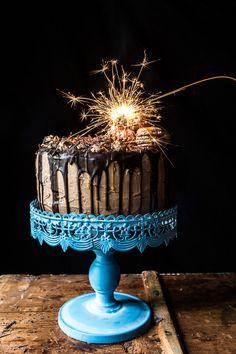 6. Chocolate Bourbon Caramel Macaron Cake