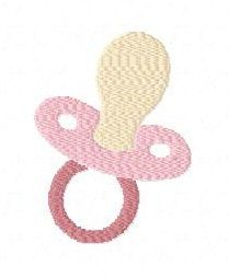 Baby dummy pacifier machine embroidery design 3 inch instant download by BelsEmbroidery