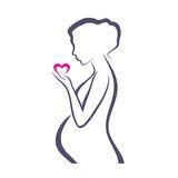 Pregnant woman symbol Royalty Free Stock Photography