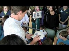 SUPER BOWL MVP ELI MANNING VISITS BATSON CHILDREN'S HOSPITAL | APRIL 2012 | Produced by Jim Albritton | New York Giants Quarterback Eli Manning visited sick and injured kids at Batson Children's Hospital in April 2012. The two-time Super Bowl MVP is no stranger to Mississippi's only children's hospital. It's home to the Eli Manning Children's Clinics. | http://newsocracy.tv