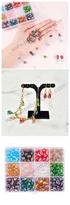 PandaHall Elite 48pcs 6 Color Alloy Cross Enamel Charms Pendants Crucifix Beads Charms for Earring Necklace Rosary Beads Bracelet Jewelry Making