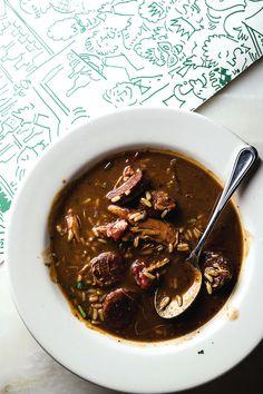 New Orleans Gumbo Ya-Ya This dark-roux gumbo originates in Cajun Country. Creole Recipes, Cajun Recipes, Cooking Recipes, Gumbo Recipes, Haitian Recipes, Donut Recipes, Saveur Recipes, Chowder Recipes, Chili Recipes