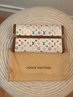 Authentic Vintage White Multicolor Murakami Louis Vuitton Wallet