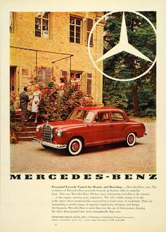 Vintage Mercedes-Benz advertisement, 1959