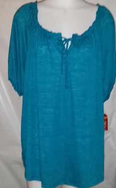 Green Tunic Top Blouse Size 16W  #FadedGlory #Blouse #Casual