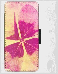 """i Phone 5 S Flip-Case  """"Blumen Gruß""""  von Zierrat auf DaWanda.com"""