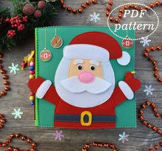 Felt Book for toddlers PDF Pattern Quiet Book Felt Pattern Toddler Christmas, Felt Christmas, Christmas Ornaments, Christmas Activities, Book Activities, Indoor Activities, Summer Activities, Baby Quiet Book, Quiet Books