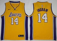 98581fdab Los Angeles Lakers Brandon Ingram  14 Basketball Team Jersey