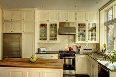 Kitchen Cabinet Options - Cabinets up to the Ceiling ... Glass Cabinet Doors