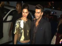 Deepika Padukone and Arjun Kapoor at premiere of the movie FINDING FANNY.