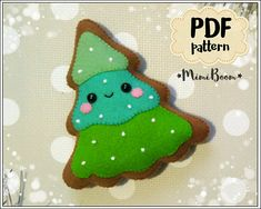 This is a digital tutorial on how to make Gingerbread Christmas tree ornament from felt Included step by step instructions, pictures and full size pattern pieces (no need to enlarge or resize). Its completely hand sew and you dont need a sewing machine. THIS IS NOT A FINISHED TOY. THIS IS