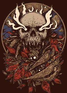 Spring 2015 part 3 on Behance Digital Foto, Emo Wallpaper, Heavy Metal Art, Horror Artwork, Dark Artwork, Skeleton Art, Skull Design, Gothic Art, Dark Fantasy Art