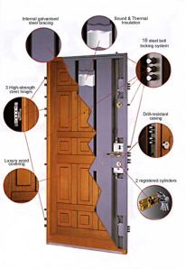 Security Door Now that a door! I once had one that was reinforced steel 4 in think Safety And Security, Home Security Systems, Security Tips, Door Lock System, Door Design, House Design, Panic Rooms, Safe Room, Hidden Rooms