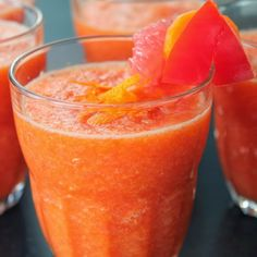 Grapefruit Honey Smoothie. Put half a cold grapefruit w/ 1 Tbs of honey in a blender and drink 20 minutes after lunch or dinner to help burn calories.