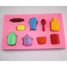 γάντια+κατσαρόλα+εργαλεία+διακόσμηση+κέικ+φοντάν+σοκολάτας+κουτάλι+τούρτα+μούχλα+σιλικόνης,+l6.9cm+*+w6.9cm+*+h1cm+–+EUR+€+3.52