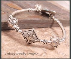 Balinese Bangle sterling silver gold bracelet   silver 925  Bali handmade jewelry  silver 925 #149B