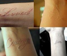 White tatoo..I think I want one