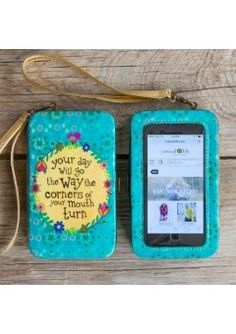 Natural Life Phone Wristlet - Your Day
