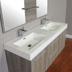 For master bath- only 18.75 deep which saves a ton of floor space! 54 wide and includes mirror and drain assembly. Need two single hole faucets. $1169 shipped