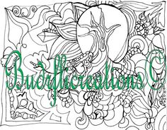 Adult Coloring Pages Nature and relaxation Zen by Budrflicreations