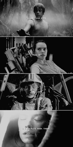 close your eyes. feel it. the light, it's always been there. #starwars