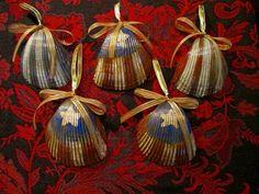 Sea Shell Ornament Patriotic Ornament