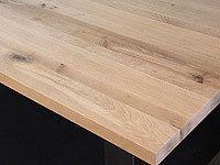 Tischplatte Massivholz Wildeiche / Asteiche DL 40 x diverse Längen x 1000 mm
