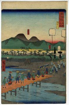 Sakawagawa River - Masterpiece Classic - Artist: Utagawa Hiroshige II c. 1863 (Art Prints, Wood & Me Japanese Drawings, Japanese Prints, Traditional Japanese Art, Van Gogh Museum, Japanese Painting, Woodblock Print, Kyoto, Samurai, Tokyo