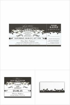Black and White Wedding Tickets Collection