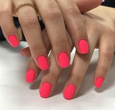Perfect Nails, Gorgeous Nails, Pretty Nails, Get Nails, How To Do Nails, Hair And Nails, Orange Nails, Pink Nails, Nail Art Vernis