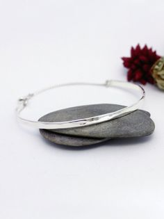 Silver Bar Bracelet Simple Sterling Silver Everyday by rosajuri