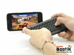 Mini Bluetooth Keyboard with Powerbank - 54 Keys, 5000mAh (Black) #iphone #keyboard