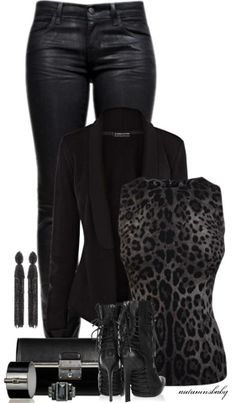 black,chic,rocker,leather