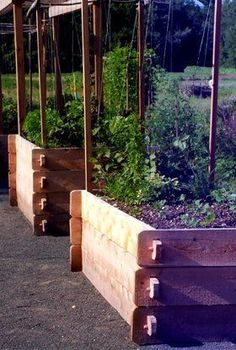 Customer Favorite - Farmstead Raised Beds  The Farmstead's mortise-and-tenon raised garden beds are based on a 17th century design. Made of Vermont White Cedar, these raised beds will last for many years and weather to a soft silver grey. These easy to assemble raised bed kits are perfect for vegetable beds and flower beds and will add complimentary beauty to your landscaping. #raisedbedsflowers #easyraisedbeds