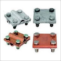 approved, ISO and IEEE certified manufacturer, supplier and exporter of Copper Cross Clamps at reasonable price.