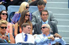 Pippa Middleton enjoys women's quarterfinals action on Arthur Ashe during the 2012 US Open - Andrew Ong/USTA
